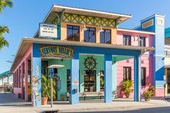 Restaurang i fortet Myers Beach, Florida, USA Arkivfoto