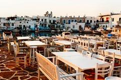 Restaurang i Grekland arkivbild
