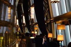 Restaurang i KingKey den finansiella mitten Royaltyfri Foto