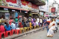 Restaurang i Kolkata, Indien Royaltyfria Bilder