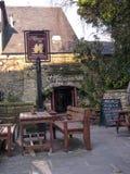 Restaurang i Lancaster England i mitten av staden arkivbild