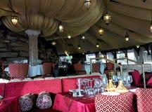 Restaurang i marockansk stil Arkivfoton
