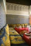 Restaurang i Marrakesh Arkivfoton