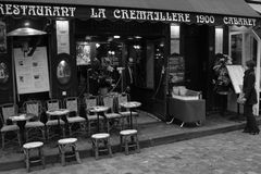 Restaurang i Paris Royaltyfri Bild