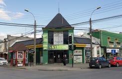 Restaurang i Punta Arenas, Chile royaltyfri bild