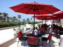 Restaurang i strand Royaltyfria Foton