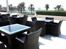 Restaurang i strand Royaltyfria Bilder