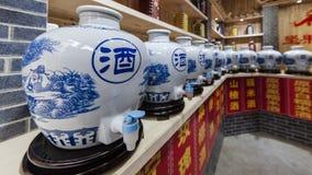 Restaurang i traditionell kinesisk stil arkivbilder