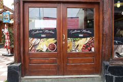 Restaurang i Ushuaia, Argentina Royaltyfri Fotografi