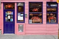 Restaurang i Ushuaia, Argentina Arkivfoton