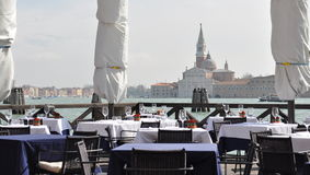 Restaurang i Venedig Arkivfoto