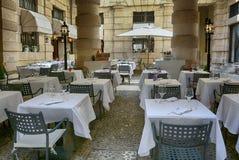 Restaurang Maffei, Italien Arkivbilder