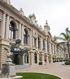 Restaurang på den Monaco kasinot arkivbilder