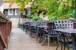 Restaurang på gatan Arkivbild
