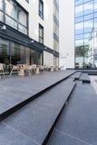 Restaurang på terrassen Arkivfoton
