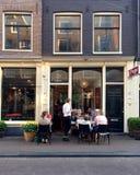 Restaurang Prego i område för nio gator av Amesterdam royaltyfri foto