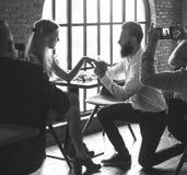Restaurang som ut kyler reserverat begrepp för flott livsstil arkivfoton