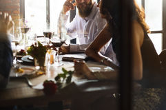 Restaurang som ut kyler reserverat begrepp för flott livsstil arkivbilder