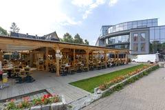 Restaurang under taket i Zakopane Royaltyfri Bild