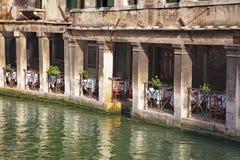 restaurang venice Royaltyfri Foto
