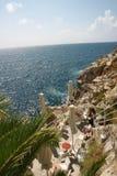 Restaurang vid havet i Italien Royaltyfri Bild