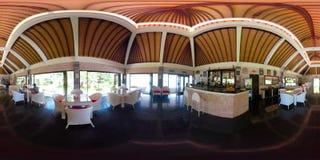 Restaurang vid havet vr360 arkivfilmer