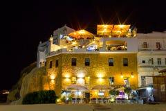 Restaurang vid stranden i Algarve Arkivfoton