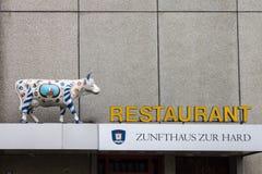 Restaurang Zurich Schweiz Arkivfoto