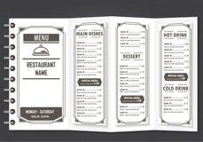 Restaurangdesignmeny vektor illustrationer