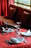 Restaurangen bordlägger royaltyfri foto