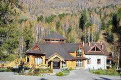 Restaurangen i bergen Arkivfoton