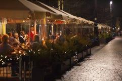 Restauranger i krakow Arkivfoton