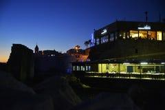 Restauranger i tunnlandport Arkivfoto