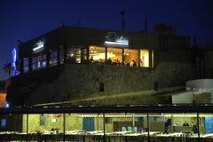 Restauranger i tunnlandport Arkivbild