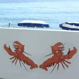 Restauranggarnering i Cannes Royaltyfri Bild