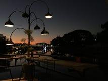 Restauranggarnering Lampdesign och garnering 4 arkivbilder