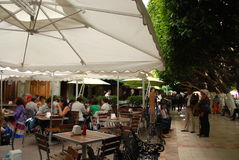 RestaurangGuanajuato Mexico turism arkivbilder