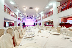 Restauranghändelse Bankett bröllop, beröm Royaltyfri Bild
