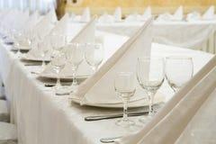 Restauranghändelse Bankett bröllop, beröm Arkivfoto