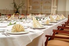 restauranginställningstabell Royaltyfri Bild