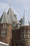 Restaurangkafé i de Waag Amsterdam Arkivbilder