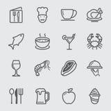 Restauranglinje symbol vektor illustrationer