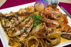 restaurangmaträtt - skaldjur Royaltyfri Foto