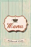 Restaurangmeny Royaltyfri Bild