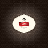 Restaurangmenydesign Fotografering för Bildbyråer
