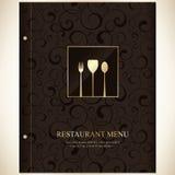 Restaurangmenydesign stock illustrationer