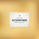 Restaurangmenydesign Royaltyfria Bilder