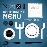 Restaurangmenymall stock illustrationer