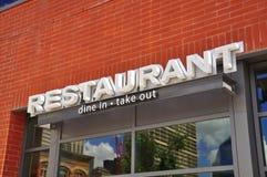 restaurangsignage fotografering för bildbyråer