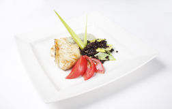 Restaurangsittpinne med grönsaker Royaltyfri Bild